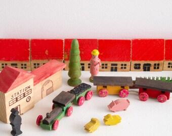 Vintage GDR wooden village