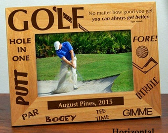 Golf Gift - Golf Gifts For Men - Golf Gift Ideas - Personalized Golf Gift - Golf Gifts For Dad - Golf Frame - Fathers Day -Holds 4x6 Photo