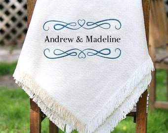 Wedding Blanket - Personalized Wedding Throw - Wedding Afghan - Custom Wedding Quilt -  Afghan Throws - Bridal Shower Gift Ideas - Keepsake