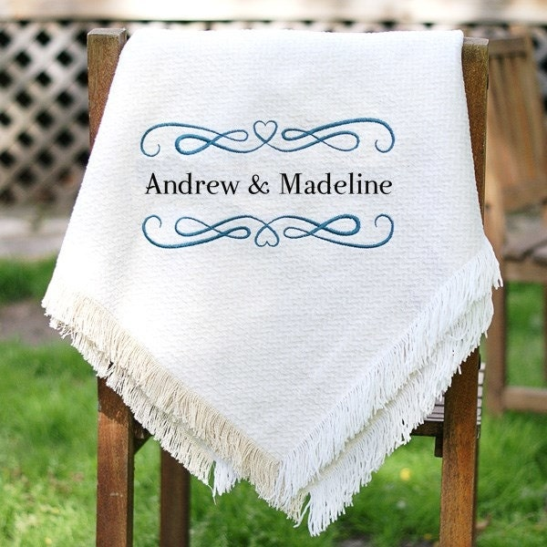 Wedding Blanket Personalized Wedding Throw Wedding Afghan