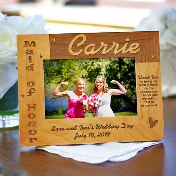 Maid Of Honor Gift Idea Matron Of Honor Custom Wood Photo
