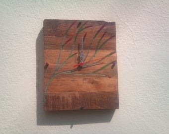 reclaimed pallet wall clock
