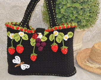 Fairy Strawberry Tote Bag / Basket