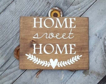 Home Sweet Home, Wood Signs Sayings, Rustic Wooden Home Decor