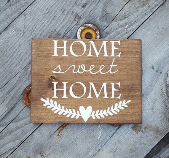 Home sweet wood signs sayings rustic wooden decor