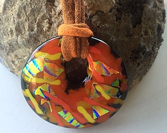 Autumn Kiln-Formed Glass Pendant