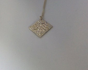 Pure Silver TEXTURE Pendant Necklace