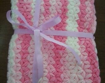 Star Blanket, Baby Blanket, Handmade, Crochet