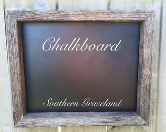 Rustic Chalkboard, Rustic Home Decor, Chalkboard Sign, Barnwood Chalkboard, Barnwood Frame Chalkboard