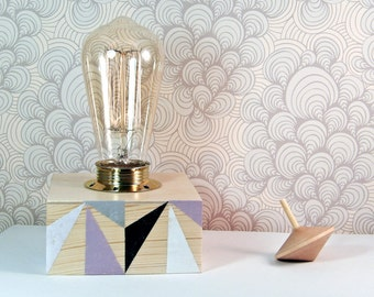 Scandinavian Lighting - Geometric Lamp - Modern Living Room Lamps - Mid Century Modern Table Lamp - Contemporary Lamps - Wooden Desk Lamp