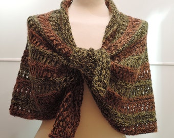 Hand knit cape