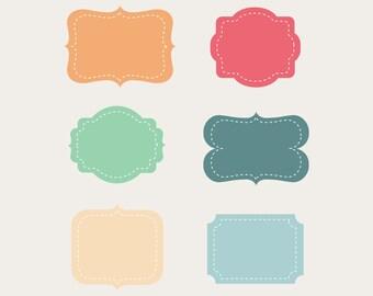 Frame  Clip Art Labels Tags, Color frame,commercial use,  frame vector, graphics, digital clip art