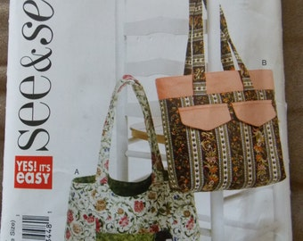 Sewing pattern Butterick 5483 See & Sew Totes new uncut