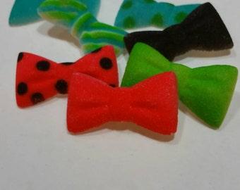 Custom Sugar bow tie cupcake topper