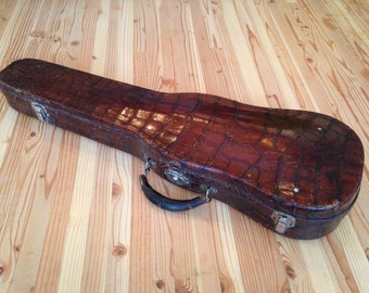 Vintage Alligator Violin Case
