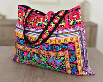 Floral Shoulder Bag - Colourful