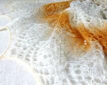 Made to Order! Sand Lace Wool Shawl. Hand Knitting. Free Shipping. Knitted shawl, Scarf, Knitting Shawl, Wraps, Hand Knit Shawl