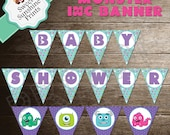 Monsters Inc Baby Shower Banner Printable