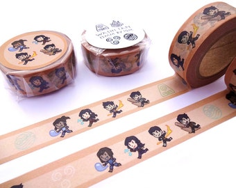 Legend of Korra Washi Tape - Asami Sato - Mako - Bolin - Avatar