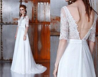Wedding dress NADIN, boho wedding dress, fairy wedding dress, dress wedding, wedding, beach wedding dress