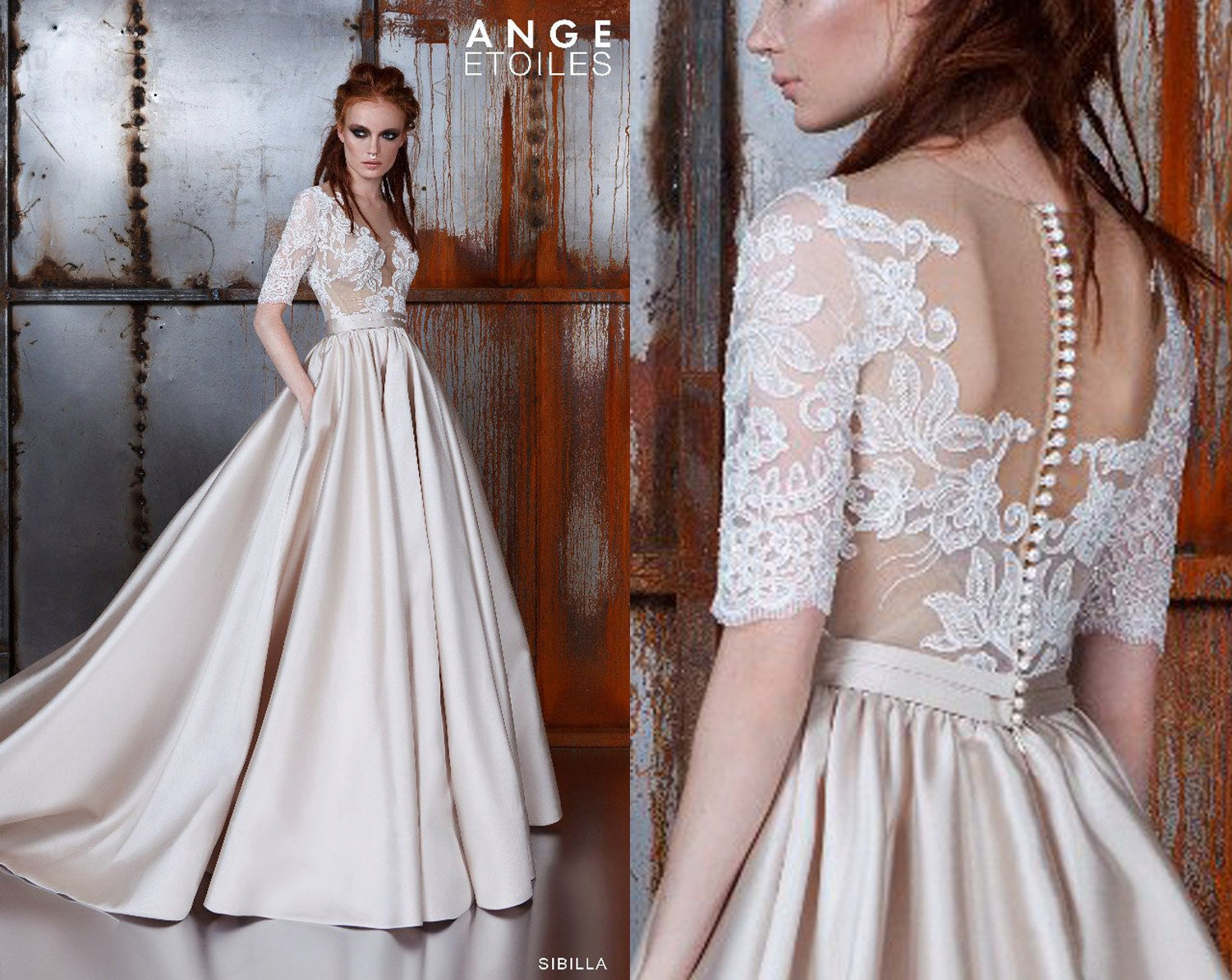 A Line Wedding Dress: Wedding Dress SIBILLA Wedding Dresses By RaraAvisAngeEtoiles