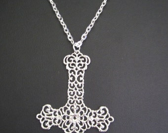 Inverted cross necklace, silver tone or black/gun metal, you choose!