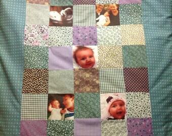 Custom Designed Handmade Photographic Quilt