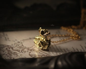 Duck Skeleton Charm Necklace by Defy - Original Handmade Jewelry
