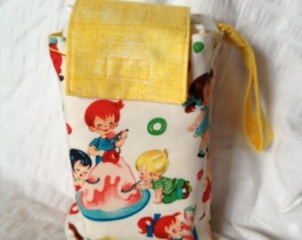 Candy shop babies diaper and wipe sack with wrist strap