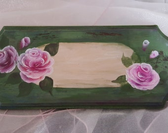 HAND PAINTED Door Sign Room Sign on Wood Panel