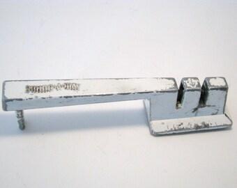 "Vintage Knife Sharpener Portable Prop or Functional Unique 50's item. ""Swing-A-Way"" Vintage Kitchen Decor"