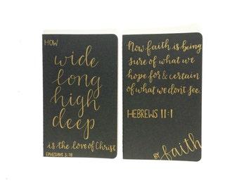 Hand Lettered Moleskine Journals