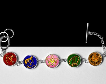 Sailor Moon Bracelet-All Sailor Scouts, Sailor Moon, Sailor Jupiter, Sailor Mercury, Sailor Venus, Sailor Mars-Anime Jewelry