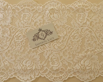 White lace trimming, white Chantilly Lace Trim