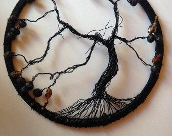Black wire tree of life