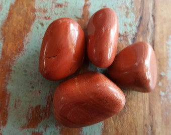 Red Jasper Large Tumbled Stones, Natural Stones, Jewelry Supplies, Semi Precious Stones, Healing Gemstone, Mystical Crystals
