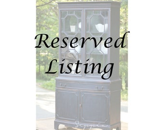 Reserved Listing, Black China Cabinet Hutch