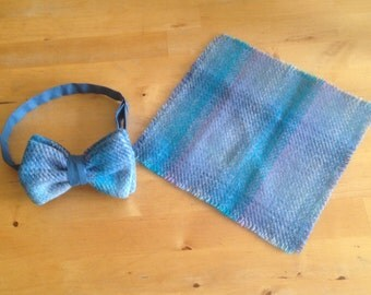 Harris Tweed Bow Tie and Pocket Square