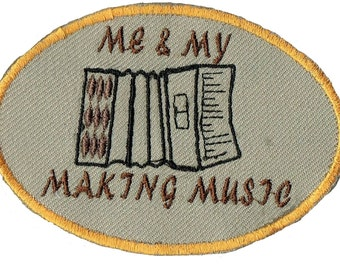 ACCORDION Me & My Making Music  Iron On Patch