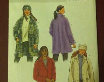 Unused Uncut Butterick B4352 Misses Misses/Petite Jacket and Hat Size Y Xsm Sm Med Clothing