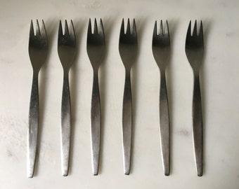 Vintage Gense Sweden Focus Stainless Sandwich Forks