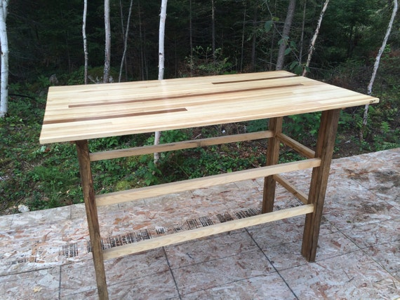 Bar height Table with two shelves (not pictured)