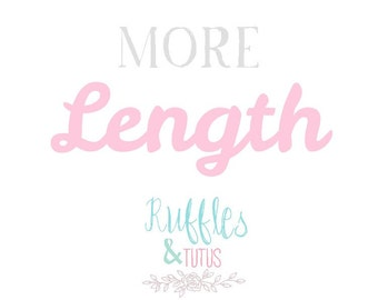 Extra Long Tutu And Ribbon Upgrade! Length Add On