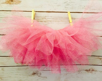 Glitter Tutu Skirt in Shabby Chic Pink