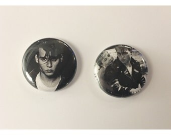 """1"""" CryBaby pin back button pair"""