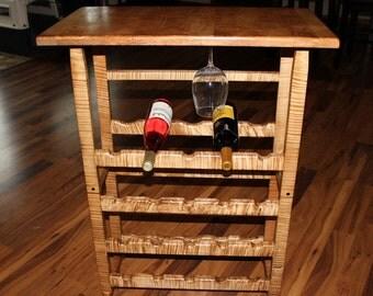 Beautiful Handmade Maple Wine Rack