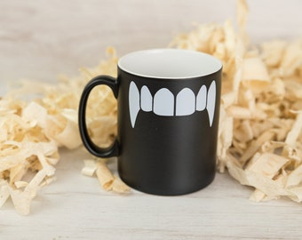 Vampire Teeth Satin Coated Mug