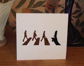 Papercut - The Beatles - Abbey Road Card