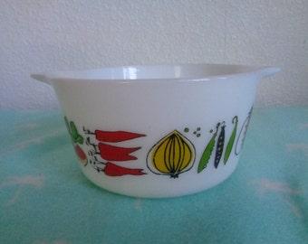 JAJ Pyrex casserole dish with harvest design