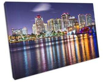 West Palm BEACH Florida Canvas WALL ART C2204